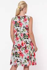 Свободное платье с цветами для полных Настасья, фото 3