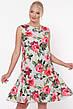 Свободное платье с цветами для полных Настасья, фото 4