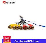 Junsun автомобильный стерео радио RCA выход провода Aux-in адаптер кабель, фото 2