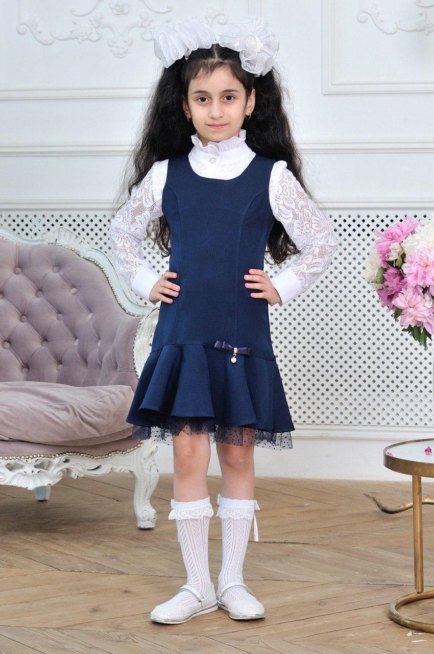Школьный сарафан для девочки р.6-14 лет опт