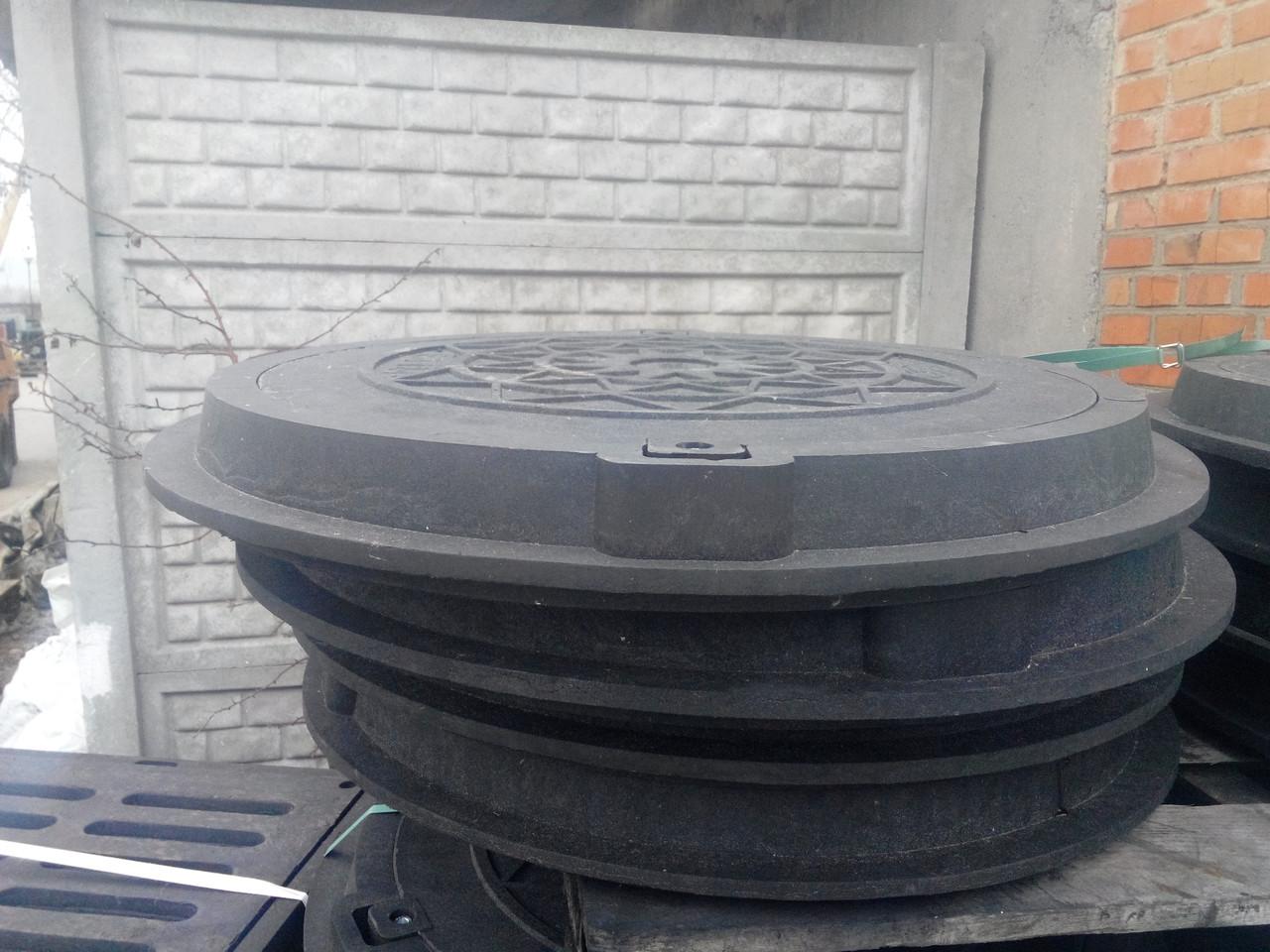 Люк ЕВРО нагрузка 1.5 т. черный с замком, фото 1
