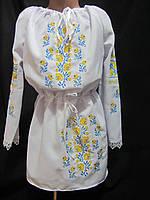 Детское платье-туника с вышивкой, от 3 до 10 лет, 330\280 (цена за 1 шт. + 50 гр.)