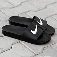 Сланцы. Шлёпанцы мужские Nike Black (шльопанці). ТОП КАЧЕСТВО !!! Реплика класса люкс., фото 1