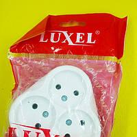 Розетка белая тройная внутренняя Luxel