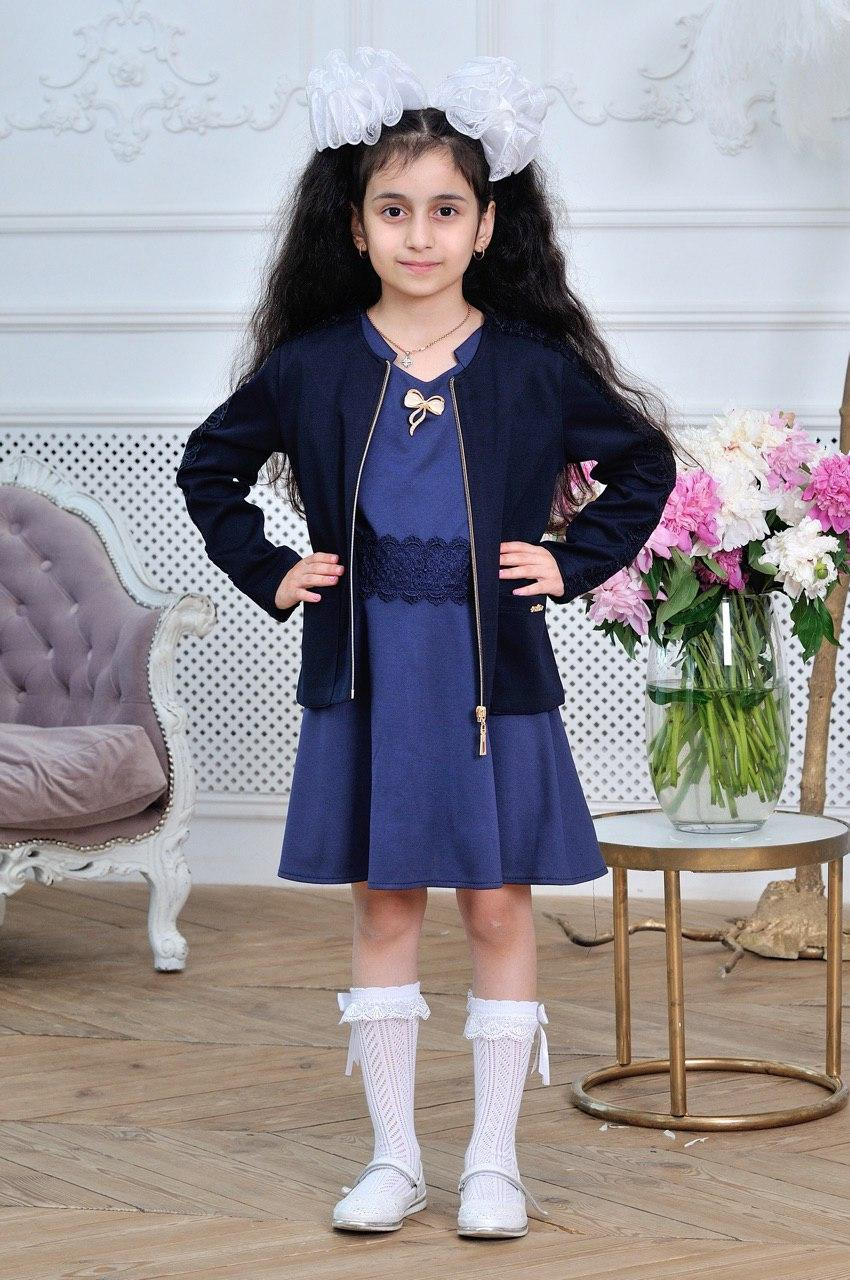 Пиджак для девочки в школу  р.6-14 лет