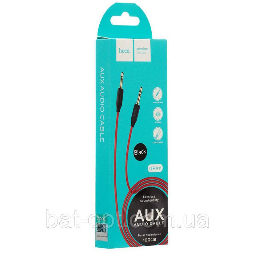 Кабель аудио AUX 3.5mm jack Hoco UPA11 1м черный