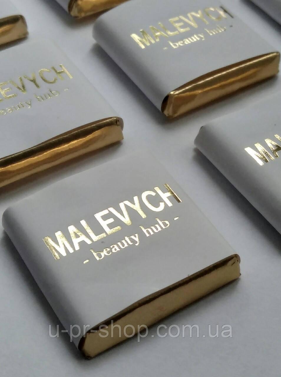 Шоколад с тиснением золотом от 500 шт.