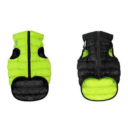 Курточка для собак Collar AiryVest двусторонняя, размер S 30, салатово-черная (мопс, французский бульдог, пекинес), фото 2
