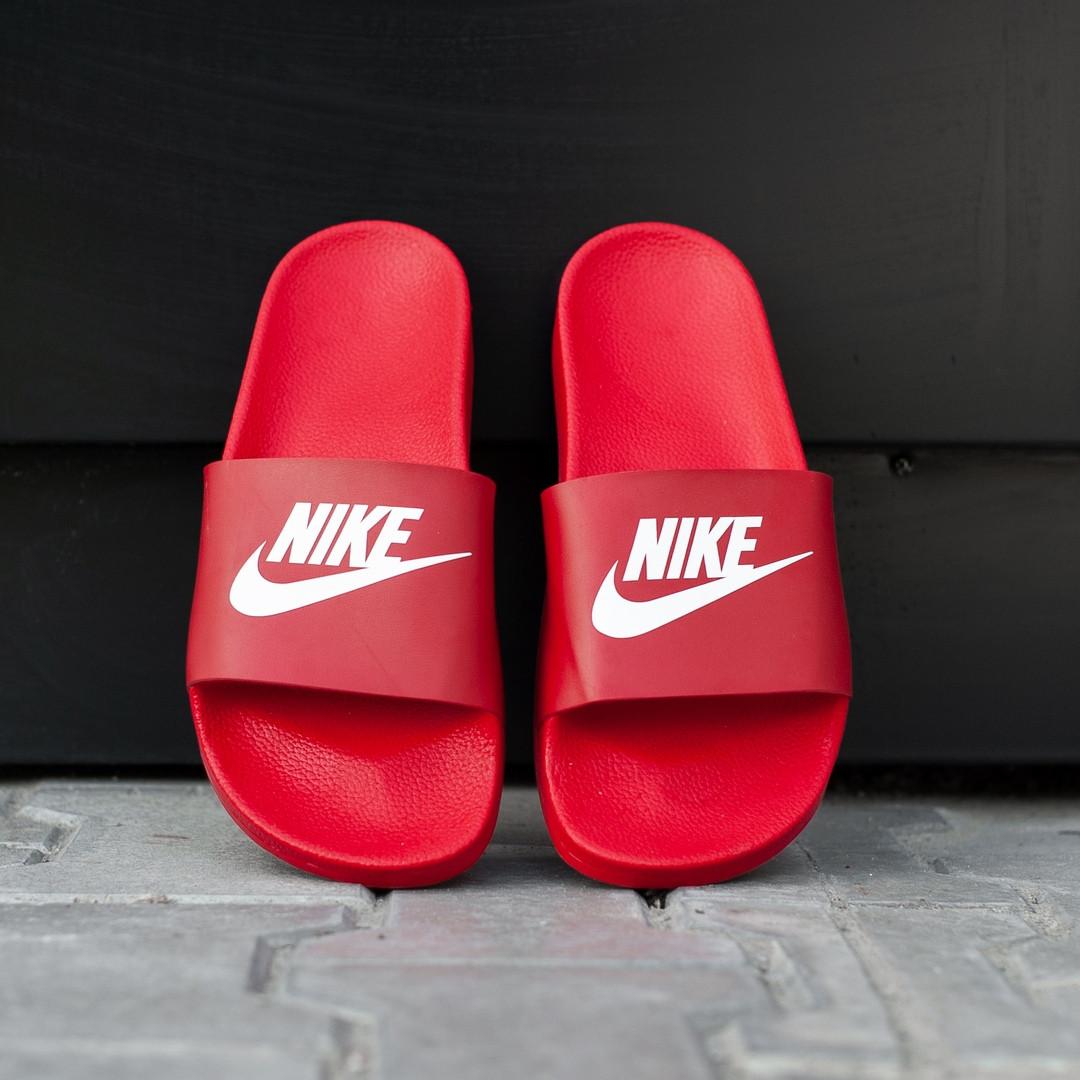 Сланцы. Шлёпанцы мужские Nike red (шльопанці). ТОП КАЧЕСТВО !!! Реплика класса люкс.
