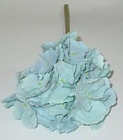 Гортензия искусственная 39 см, голубая