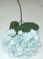 Гортензия искусственная 68 см, голубая