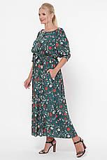 Зеленое длинное платье большое Снежанна, фото 2
