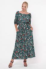 Зеленое длинное платье большое Снежанна, фото 3