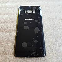 Задняя крышка для Samsung Galaxy S8 G950 черная (Midnight black) стекло