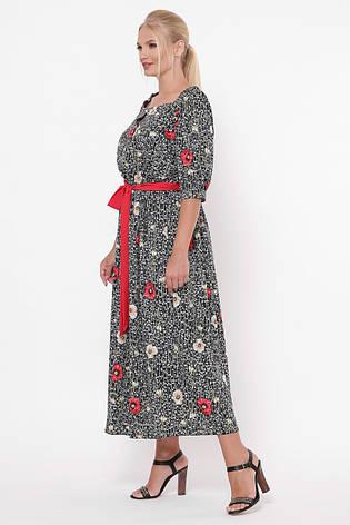 Легке довге плаття для повних Снежанна маки, фото 2