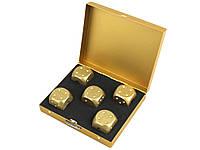 Набор костей Moun 5 шт. из алюминия Квадратная коробка Золотой