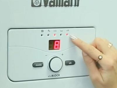 Удобная панель управления электрического котла Vaillant eloBlock 12кВт