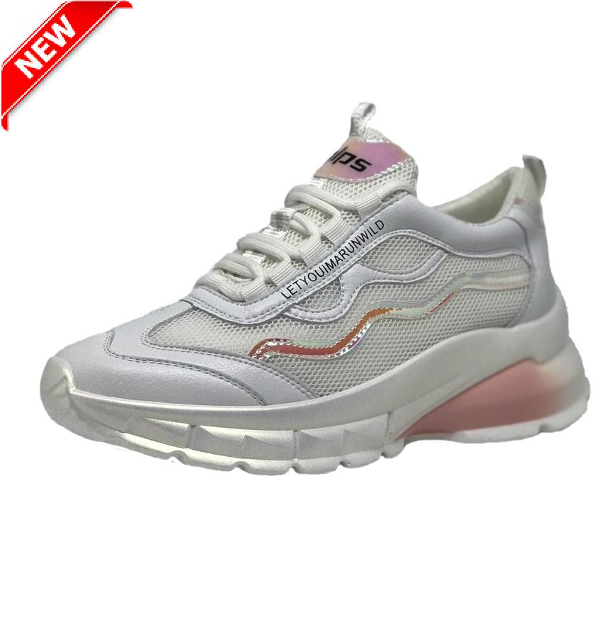 7154d5ba Женские кожаные кроссовки летние белые SHABAOLI - Интернет-магазин
