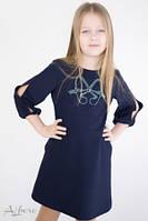 Школьное платье с разрезами на рукавах Albero 1066 Размеры 122,140, 146 Супер качество!