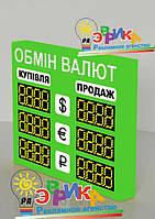 Электронное табло обмена валют двухстороннее