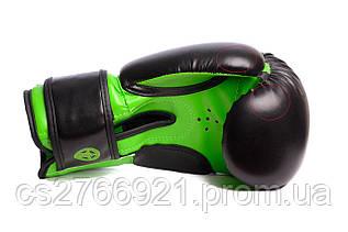 Боксерські рукавиці PowerPlay 3004 JR Чорно-Зелені
