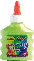 Клей ZiBi на PVA-основі, 88 мл, непрозорий, салатовий (ZB.6113-15)