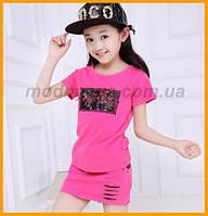 Летний костюм, стильный и модный, для девочек, фото 1