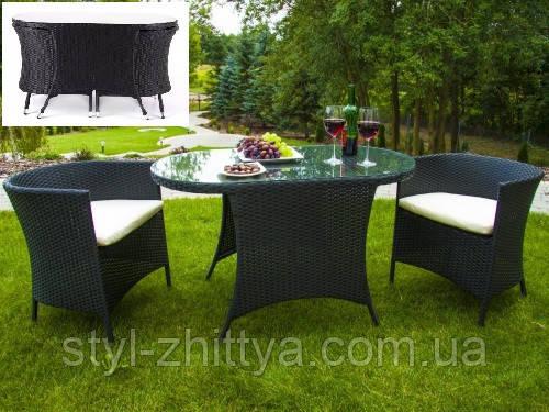 Комплект стіл + 2 крісла