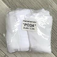 Гольфы белые капроновые Роза, боковой узор, 30 Den, 23-27 размер, 02751, фото 5