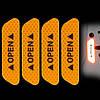 Светоотражающая наклейка - OPEN - оранжевые