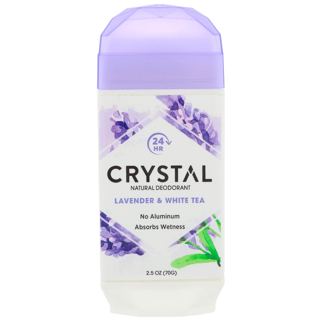 Натуральный дезодорант, лаванда и белый чай, Crystal Body Deodorant, 70 г