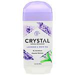 Натуральний дезодорант, лаванда і білий чай, Crystal Body Deodorant, 70 г