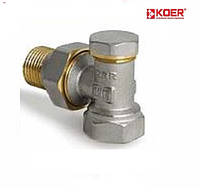 Вентиль радиаторный настроечный угловой 1/2 х  1/2 KOER (KR.902)