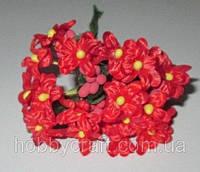Незабудки с тычинками искусственные, красные