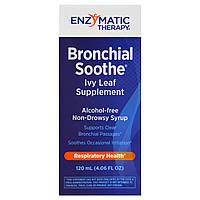 Успокоение бронхов, добавка с листом плюща, Enzymatic Therapy, 3.4 жидких унции (100 мл)