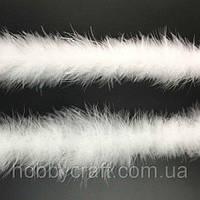 Перья боа 7 см/1,8 м, белые