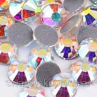 Стразы эконом hotfix, цвет Crystal AB, ss20(5mm), 100шт.