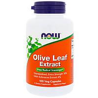 Экстракт листьев оливы, Now Foods, 100 растительных капсул