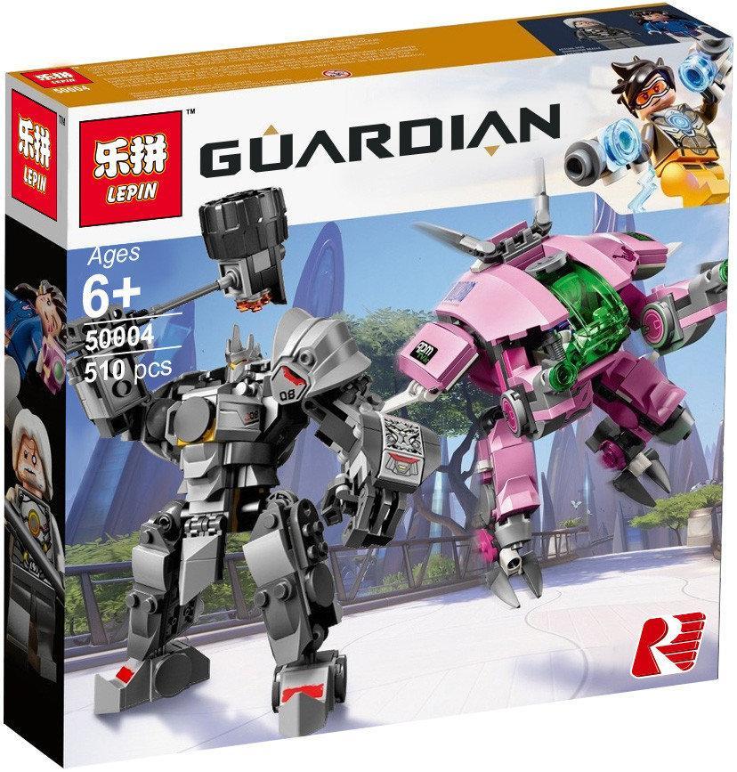 """Конструктор Lepin 50004 """"D.Va и Рейнхардт"""" (реплика Lego Overwatch 75973), 510 дет"""