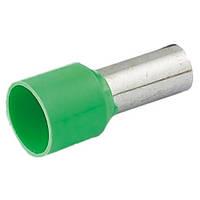 Наконечник-гильза Е16-12  16 мм2 с изол фланцем зеленый