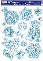 """Наклейка на окна """"Зимние декорации"""""""