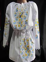 Платье туника с вышивкой, от 3 до 10 лет, 330\280 (цена за 1 шт. + 50 гр.)