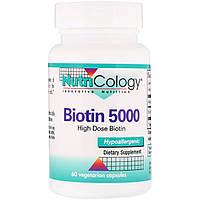 Биотин 5000, Nutricology, 60 вегетарианских капсул