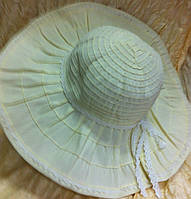 Молочная шляпа  летняя с большие поля