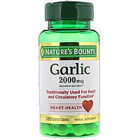 Чеснок, Nature's Bounty, 2000 мг, 120 таблеток в оболочке