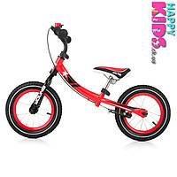 Беговел с ручным тормозом и надувными колёсами M-Young 3 (Польша) для детей от 3 до 6 лет (до 35кг)