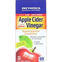 Яблочный уксус, Enzymedica, 60 капсул