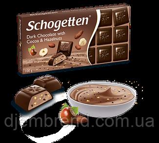 Шоколад Schogetten,Черный шоколад с орехами 100 г Германия