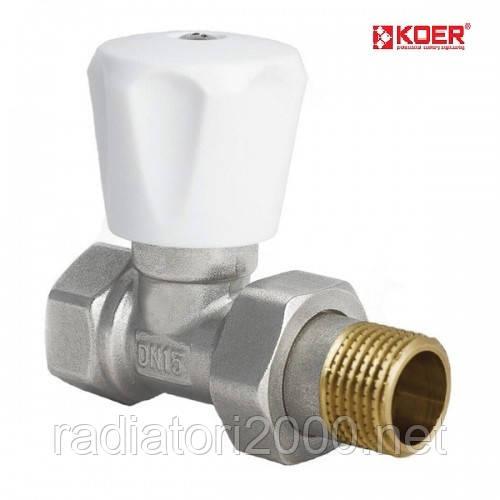 Вентиль радиаторный прямой 3/4 х 3/4 KOER (KR.903)