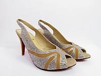 Босоножки женские  Christian Louboutin, женская летняя обувь, босоножки на каблуке, Кристиан Лубутен